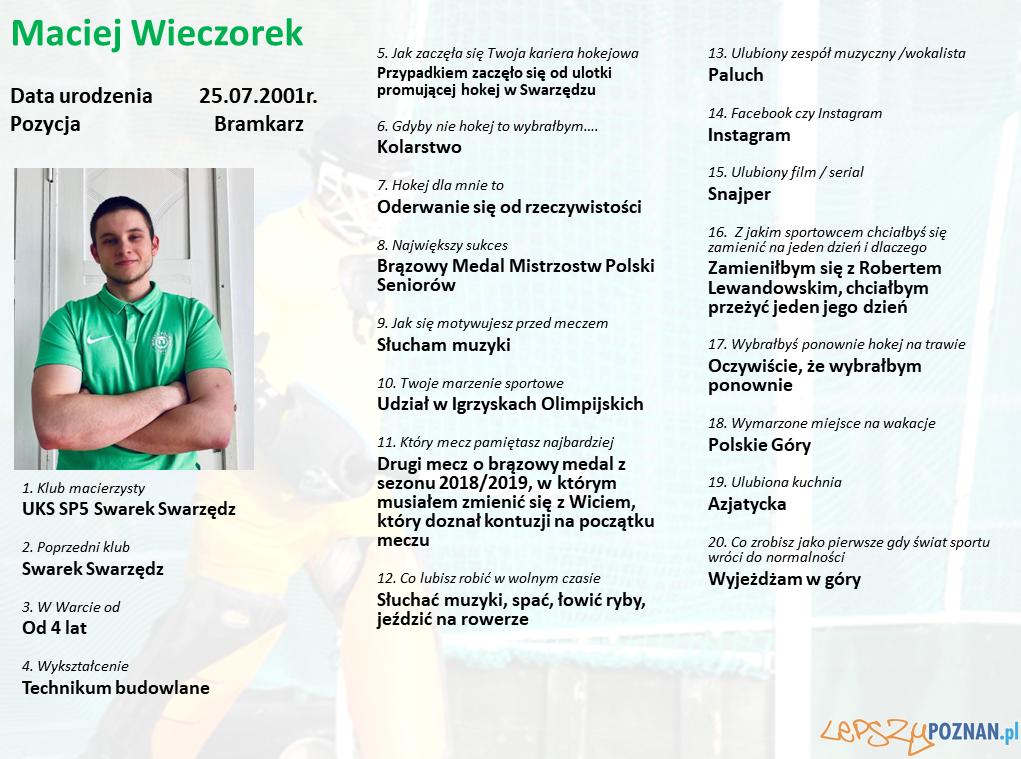 Warta Poznań - Maciej Wieczorek Foto: Warta Poznań / materiały prasowe