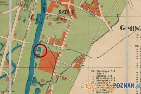 Historia Żegrza - mapa  Foto: