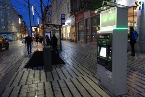 Św. Marcin - przystanek tramwajowy biletomat  Foto: Tomasz Dworek