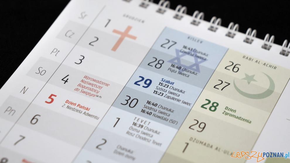 Kalendarz trzech religii  Foto: materiały prasowe / UMP