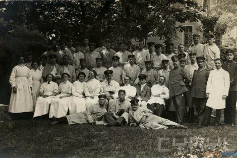 Ireneusz Wierzejewski w klinice im. Gasiorowskiego 1913  Foto: Muzeum Uniwersytetu Medycznego / Cyryl