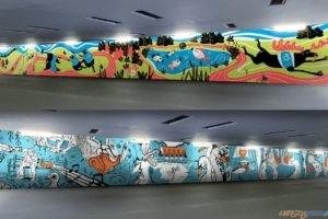 Wizualizacja muralu w tunelu pod NIestachowską  Foto: materiały prasowe / POSiR