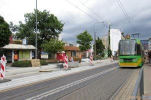 Budowa przystanku wiedeńskiego na Głogowskiej (sierpień 2021)  Foto: UMP