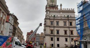 Ratusz - ćwiczenia Straży Pożarnej  Foto: